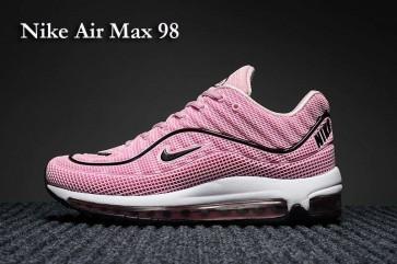 Femme Supreme x Nike Air Max 98 KPU TPU Rose Noir Meilleur Prix