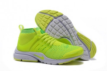 Chaussures Nike Air Presto Ultra Flyknit High Homme Verte Pas Cher