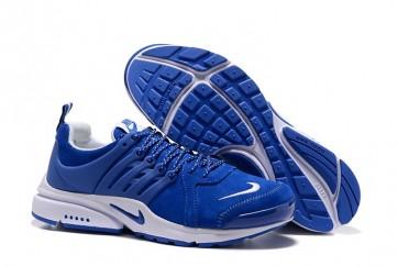 Homme Nike Air Presto Chaussures Bleu Blanche Soldes