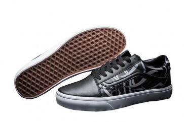 Boutique Chaussures Vans Old Skool Leather Noir Grise