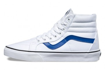 Chaussures Vans Canvas SK8 Hi Reissue Soldes, Vans Blanche Bleu