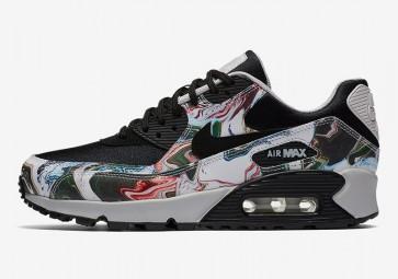 """Boutique Nike Air Max 90 Premium Femme """"Marble"""" Noir Grise"""