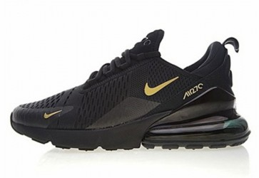 Homme Nike Air Max 270 Noir Or Pas Cher