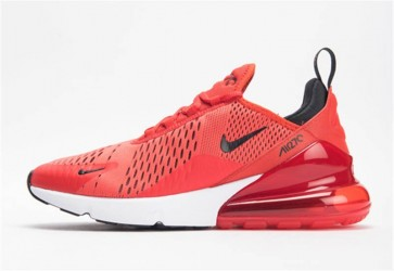 Homme Nike Air Max 270 Habanero Rouge Noir Blanche Challenge Rouge Rabais