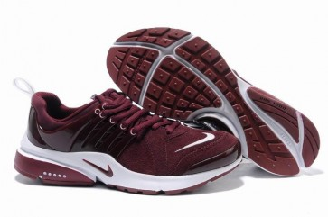 Chaussures Nike Air Presto Rouge Burgundy Pas Cher