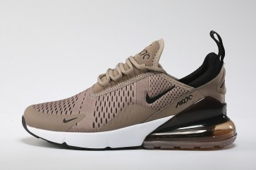 Nike Air Max 270 Flyknit Marron Argent Soldes