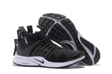 Boutique Homme ACRONYM x Nike Air Presto Mid Chaussures Noir Blanche