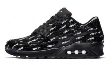 """Homme Nike Air Max 90 Premium """"Air Max"""" Pack Noir Blanche Rabais"""