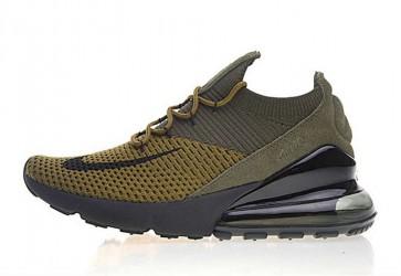 Nike Air Max 270 Flyknit Verte Jaune Soldes