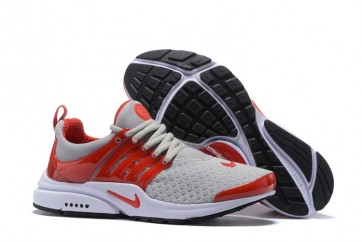 Homme Nike Air Presto Essential Chaussures Grise Rouge Soldes