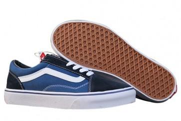 Chaussures Vans Old Skool Soles, Marine Blanche