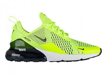 Nike Air Max 270 Homme Fluorescent Verte Blanche Rabais