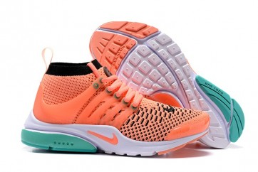 Chaussures Nike Air Presto Ultra Flyknit High Femme Rose Soldes