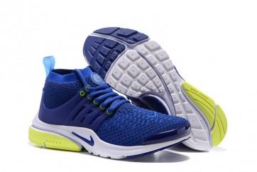 new concept ba56a a8753 Chaussures Nike Air Presto Ultra Flyknit High Femme Bleu Soldes