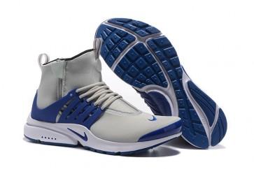 Homme Nike Air Presto High Chaussures Grise Bleu Soldes