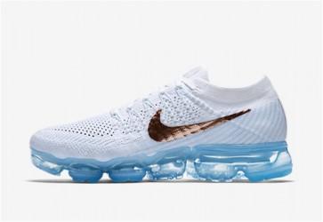 """Acheter Nike Air VaporMax Flyknit Femme """"Hydrogen Bleu"""" Blanche Rouge"""