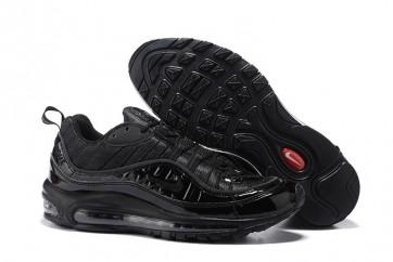Homme Supreme x Nike Air Max 98 Noir Soldes