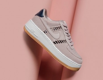 Nike Air Force 1 Upstep Low Jogging Particle Rose Blanche Soldes