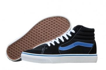 Chaussures Vans Canvas SK8 Hi Reissue Pas Cher: Noir Bleu Vans