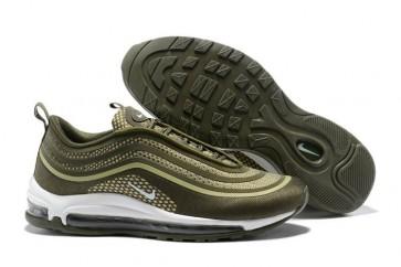 Homme Nike Air Max 97 UL'17 Olive Verte Blanche Meilleur Prix