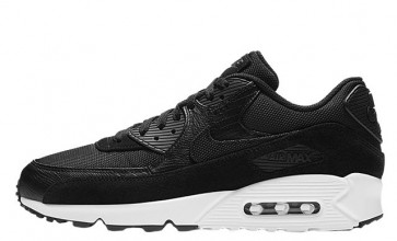 Homme Nike Air Max 90 Premium Noir Blanche Pas Cher