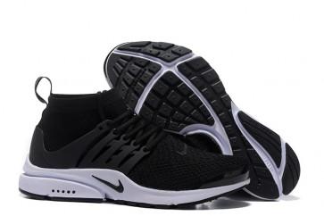 Boutique Chaussures Nike Air Presto High Ultra Flyknit Noir Blanche