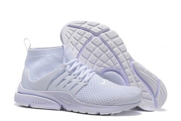 Boutique Chaussures Nike Air Presto High Ultra Flyknit Blanche