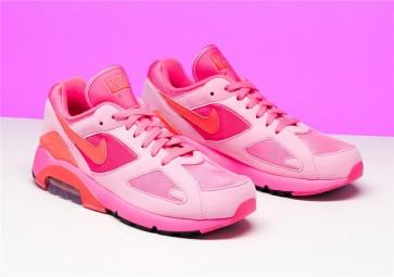 COMME des GARÇONS x Nike Air Max 180 CDG Laser Rose Rouge Homme Soldes