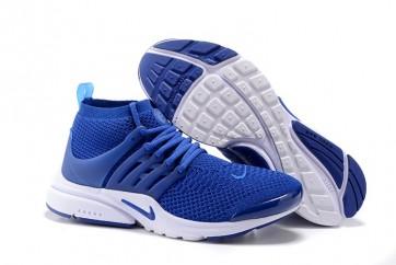 Nike Air Presto Ultra Flyknit High Soldes, Chaussures Homme Bleu