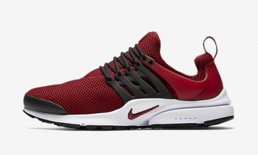 Nike Air Presto Essential Team Rouge Noir Homme Soldes