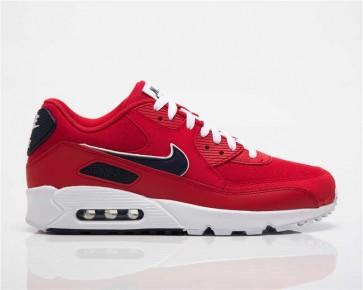 Homme Nike Air Max 90 Essential Rouge Noir Meilleur Prix