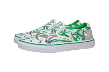 Vans Classic Slip on Verte | Chaussures Blanche Grise