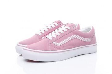 Chaussures Vans Old Skool Rose Blanche Soldes | Vans Femme