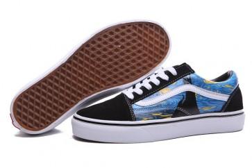 Chaussures Vans Old Skool Noir Multi Color Soldes