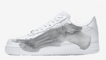 """Nike Air Force 1 QS """"Skeleton"""" Homme Blanche Soldes"""