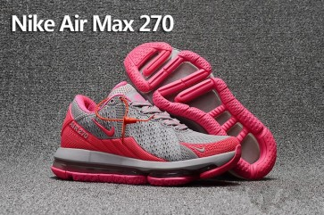 info for 9d7d3 ef04c Boutique Femme Nike Air Max 270 Trainers KPU TPU Rose Grise