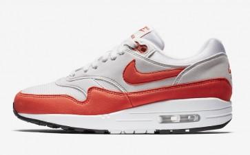 "Nike Air Max 1 Femme ""Habanero Rouge"" Grise Blanche En ligne"
