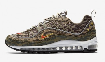 "Boutique Nike Air Max 98 AOP ""Camo"" Khaki Orange Homme"