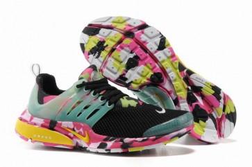Chaussures Nike Air Presto Femme Noir Rose Camo Soldes