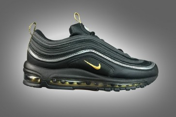 Homme Nike Air Max 97 Noir Or Rabais