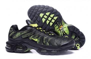 Chaussures Nike Air Max TN Plus Homme Noir Verte Pas Cher