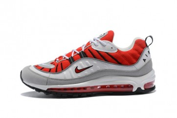 Supreme x NikeAir Max 98 Homme Rouge Blanche Pas Cher