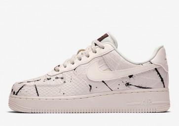 "Nike Air Force 1 Low LX ""Phantom Snakeskin"" Homme Noir Blanche Soldes"