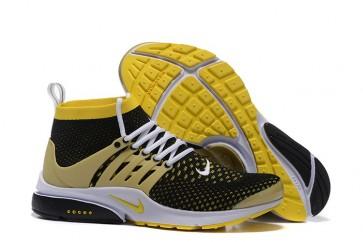 Nike Air Presto High Ultra Flyknit Pas Cher, Chaussures Homme, Noir Jaune