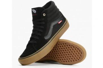 Vans Sk8 Hi Pro Pas Cher, Chaussures Noir Gum