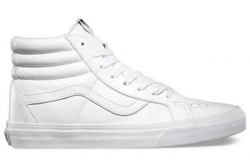 Boutique Chaussures Vans Sk8 Hi Reissue Leather Blanche