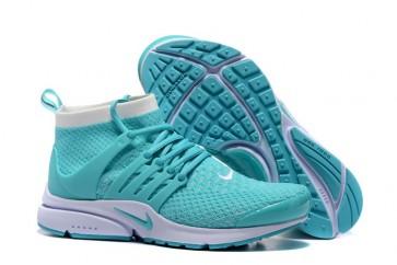 Chaussures Nike Air Presto High Ultra Flyknit Bleu Pas Cher