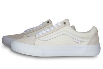 Vans Old Skool Pro Blanche Grise Soldes   Chaussures Vans