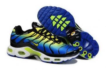Nike Air Max TN Plus Homme Pas Cher - Chaussures Bleu Jaune