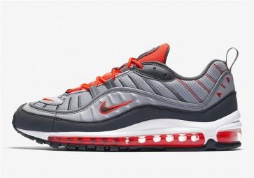 Nike Air Max 98 Grise Rouge Meilleur Prix